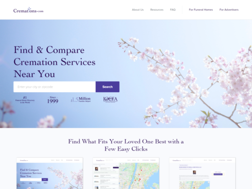 New Cremations Homepage